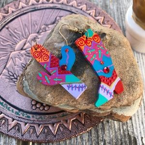 Jewelry - Handmade vintage boho earrings